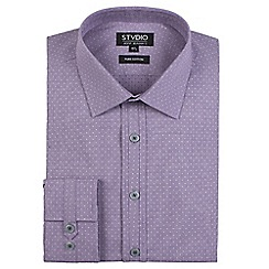 Stvdio by Jeff Banks - Purple dobby shirt