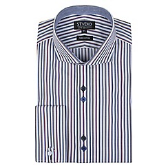 Stvdio by Jeff Banks - Blue multi stripe shirt