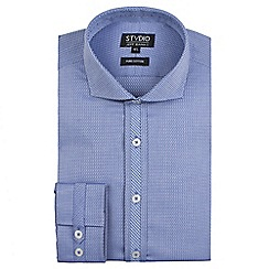 Stvdio by Jeff Banks - Blue textured weave shirt