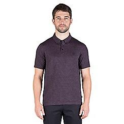 Jeff Banks - Red multi stitch button down polo shirt