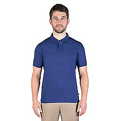 Jeff Banks - Blue multi stitch polo shirt