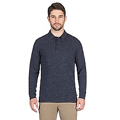 Jeff Banks - Blue space marl long sleeve rugby shirt
