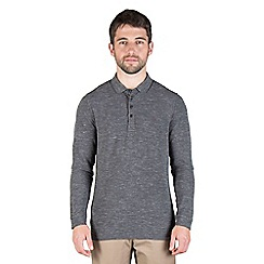Jeff Banks - Grey space marl long sleeve rugby shirt