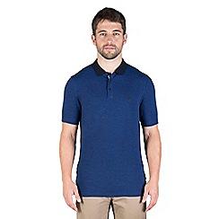 Jeff Banks - Blue zig zag stitch polo shirt