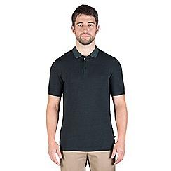 Jeff Banks - Green zig zag stitch polo shirt