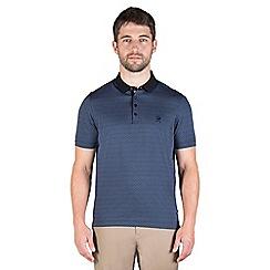 Jeff Banks - Blue geo jacquard polo shirt