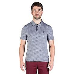 Jeff Banks - Navy two tone diamond polo shirt