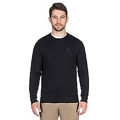 Jeff Banks - Navy cashmere blend crew neck jumper