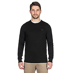 Jeff Banks - Black cashmere blend crew neck jumper