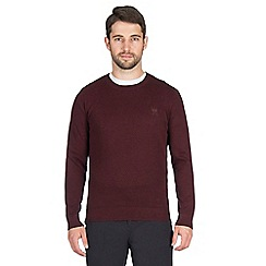 Jeff Banks - Red textured crew neck jumper