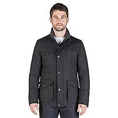 Jeff Banks - Charcoal wool blend utility jacket