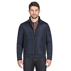 Jeff Banks - Navy quilted bomber jacket