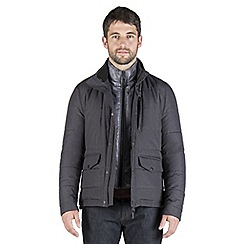 Jeff Banks - Charcoal houndstooth padded jacket
