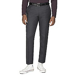 Racing Green - Grey flannel tailored trousers