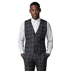 Ben Sherman - Grey and navy check slim fit waistcoat
