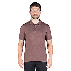 Jeff Banks - Burnt orange zig zag jacquard polo shirt