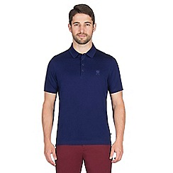Jeff Banks - Blue mercerised polo shirt