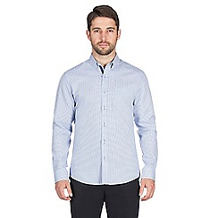 Jeff Banks - Blue dobby shirt