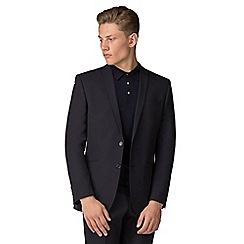 Ben Sherman - Navy mulberry gingham slim fit jacket