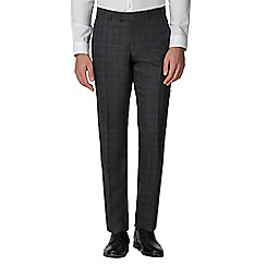 Racing Green - Charcoal with rust tailored trousers