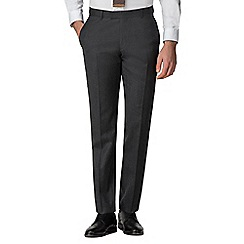 Racing Green - Charcoal flannel tailored trousers