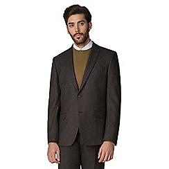 Racing Green - Brown textured tailored jacket