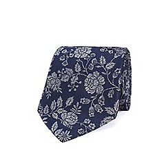 Stvdio by Jeff Banks - Navy textured roses tie