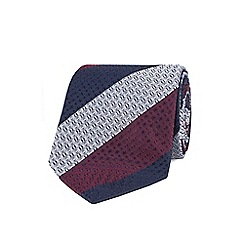 Stvdio by Jeff Banks - Wine textured stripe tie