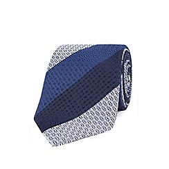 Stvdio by Jeff Banks - Blue textured stripe tie