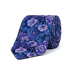 Stvdio by Jeff Banks - Purple tonal floral tie