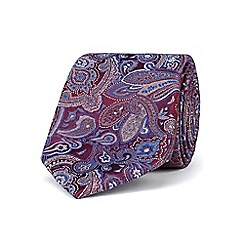 Stvdio by Jeff Banks - Wine intricate paisley tie