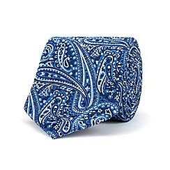 Stvdio by Jeff Banks - Navy tonal paisley tie