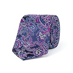 Stvdio by Jeff Banks - Purple intricate floral tie