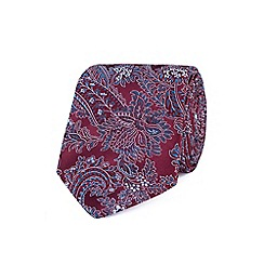 Stvdio by Jeff Banks - Wine intricate floral tie