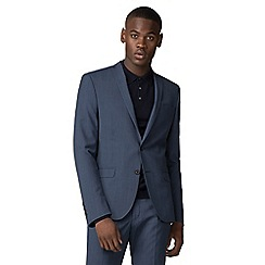Red Herring - Blue textured slim fit jacket