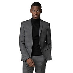 Red Herring - Grey with charcoal overcheck slim fit suit