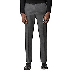 Red Herring - Grey with charcoal overcheck slim fit trouser