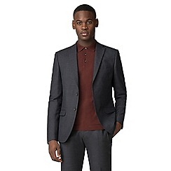 Red Herring - Charcoal navy grid effect slim fit jacket