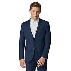 Red Herring - Bright blue twill slim fit suit