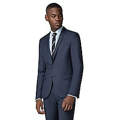 Red Herring - Deep blue twill slim fit suit