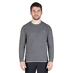 Jeff Banks - Charcoal chunky textured crew neck jumper