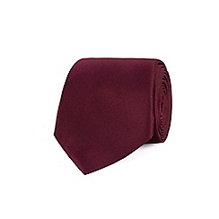 Stvdio by Jeff Banks - Wine plain silk tie