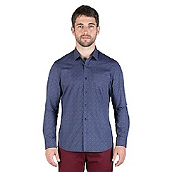 Jeff Banks - Navy intricate print shirt
