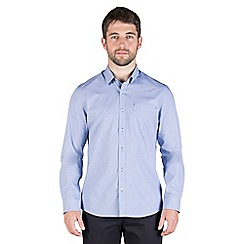 Jeff Banks - Navy dobby micro shirt