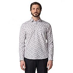 Jeff Banks - White spray floral shirt