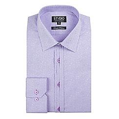 Stvdio by Jeff Banks - Lilac micro floral jacquard shirt