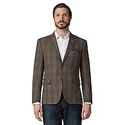Jeff Banks - Brown large check blazer