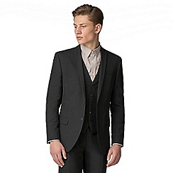 The Collection - Charcoal plain slim fit suit