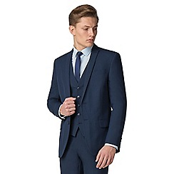 The Collection - Bright blue plain slim fit suit