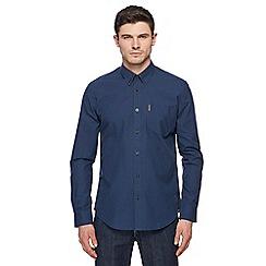 Ben Sherman - Dark navy mini gingham shirt